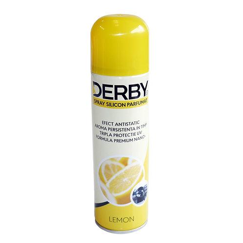 Spray cu silicon parfumat pentru bord Lamaie 220 ml DERBY