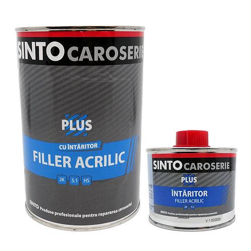 Filler acrilic Plus 5:1 cu intaritor gri (0.75L+0.15L) SINTO