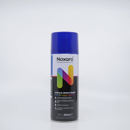 Vopsea spray transparent Albastru 450ml NOXARO