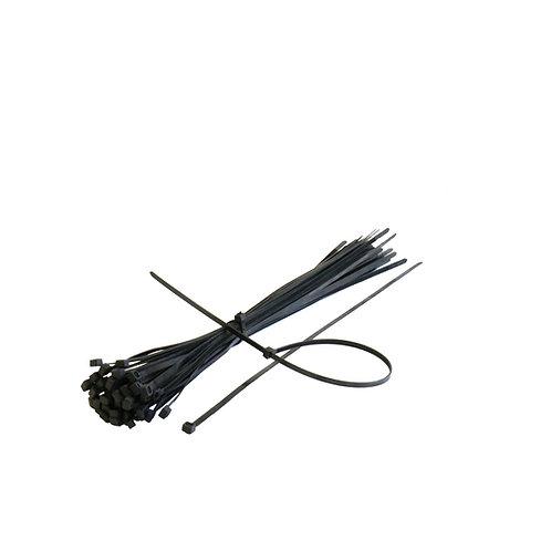 Set 100 buc/punga coliere plastic 3.6*150 mm negru RUNKIT