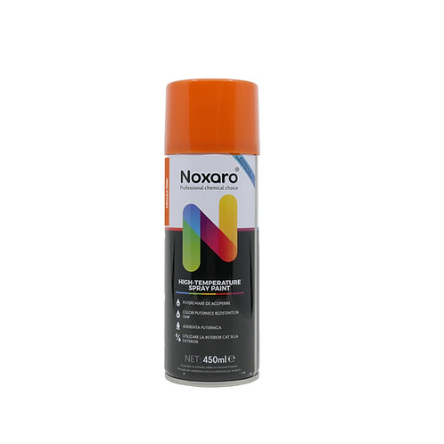 Vopsea spray rezistenta la temp. inalta Portocaliu 450ml NOXARO
