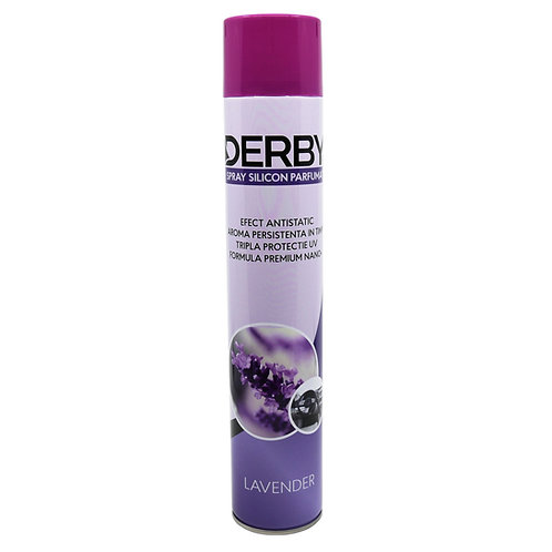 Spray cu silicon parfumat pentru bord Lavanda 750 ml DERBY
