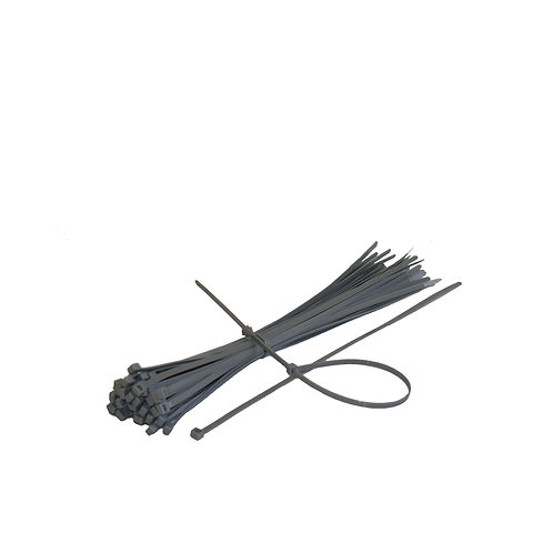 Set 100 buc/punga coliere plastic 3.6*370 mm gri RUNKIT