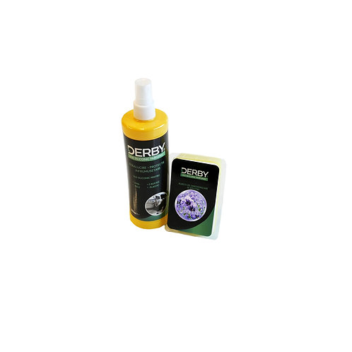 Ulei siliconic parfumat pentru bord Lavanda 300 ml + burete DERBY