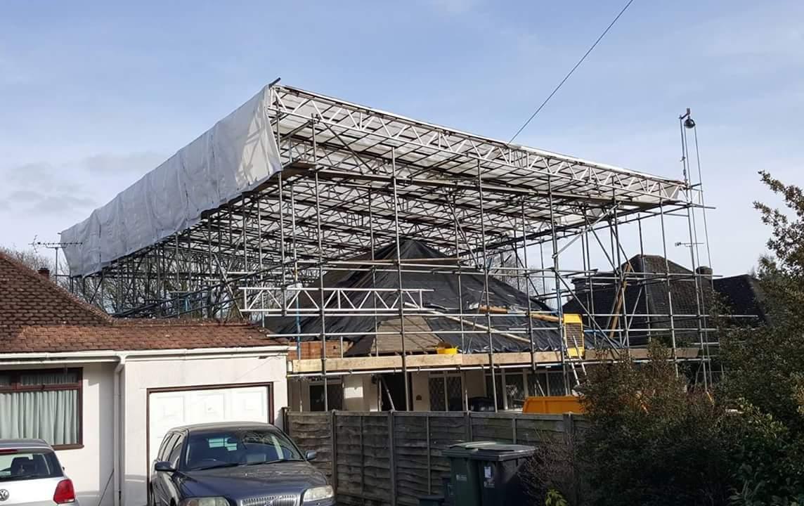Plastic Temporary Roof