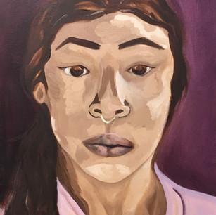 Self Portrait in oil paint