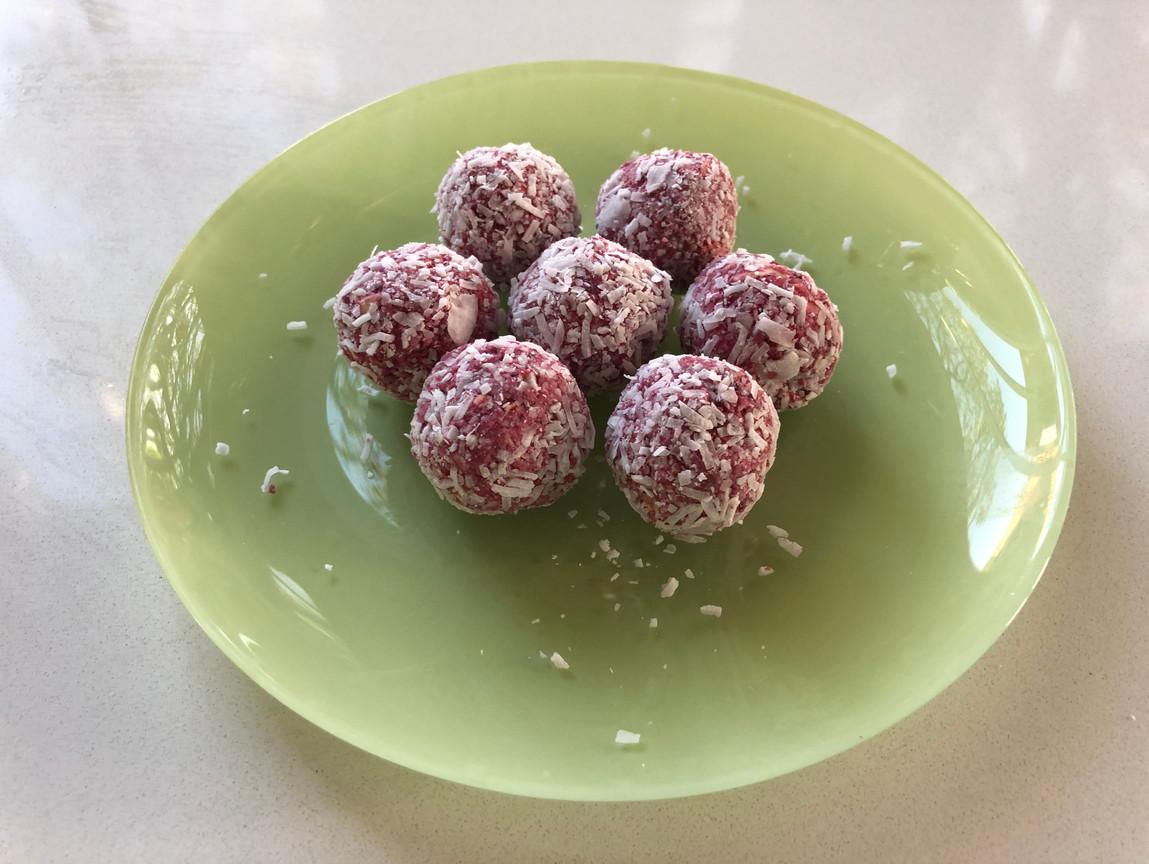 Raspberry Coconut Bliss Balls Pic.JPG