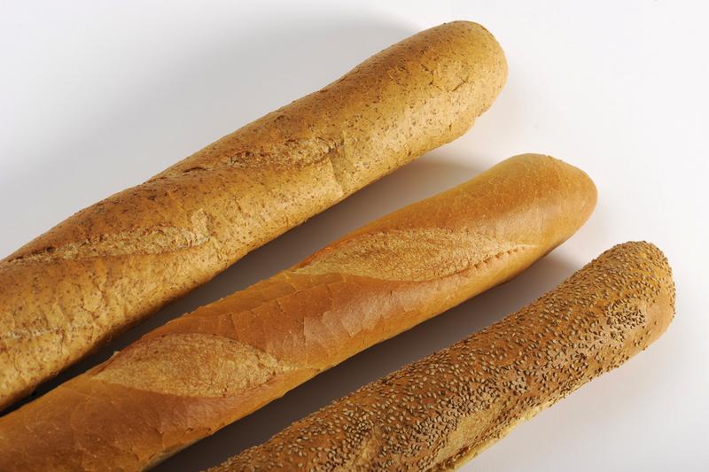 Drie soorten stokbrood