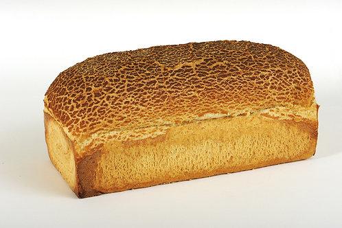 Vloerbruin tijger brood gesneden