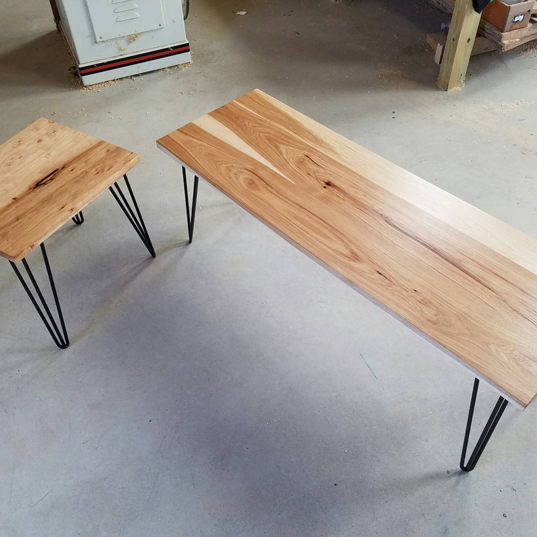 pecan table & bench