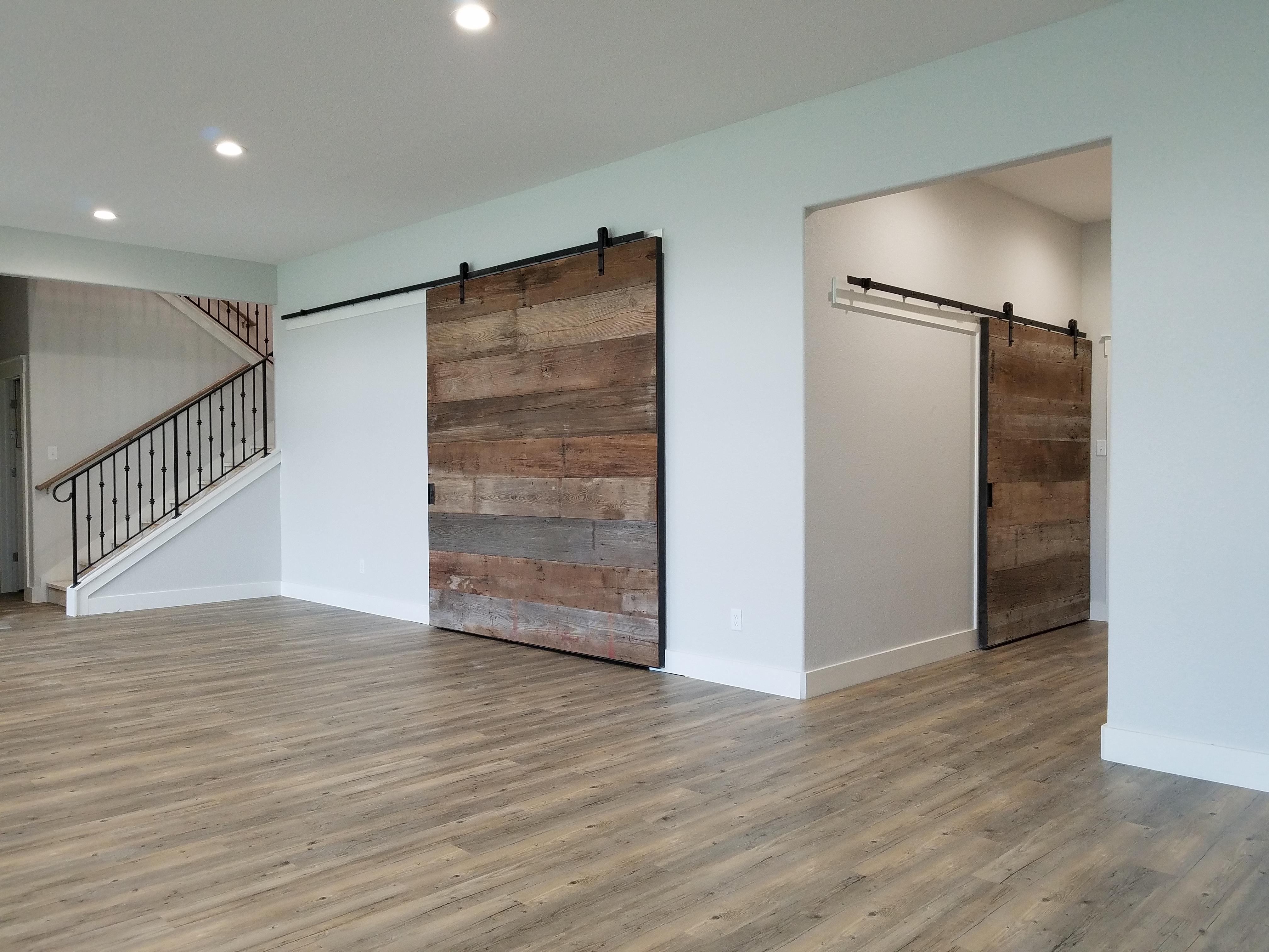 steel and wood doors