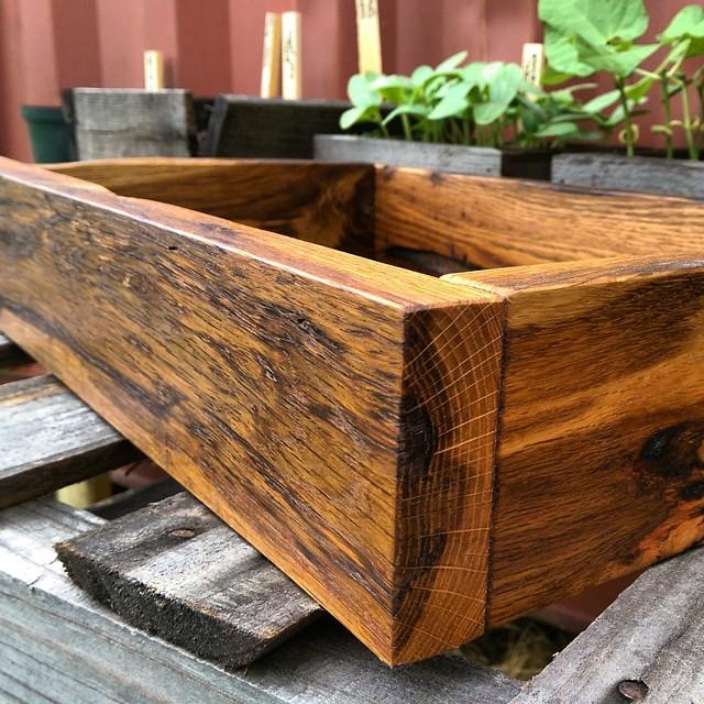 reclaimed oak tray