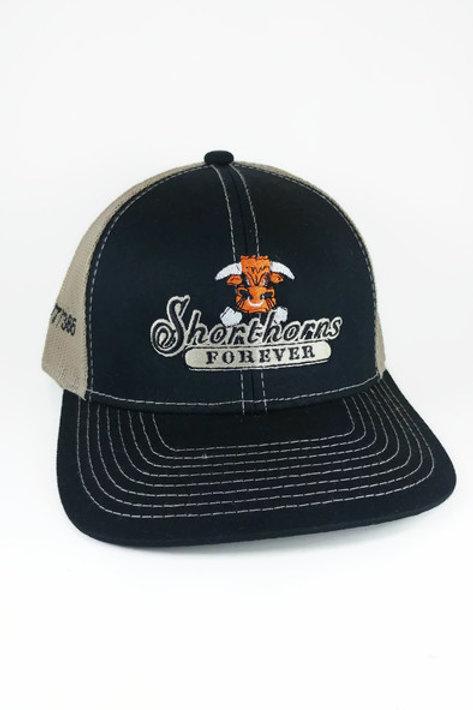 Shorthorns Forever Ball Cap - Black & Tan