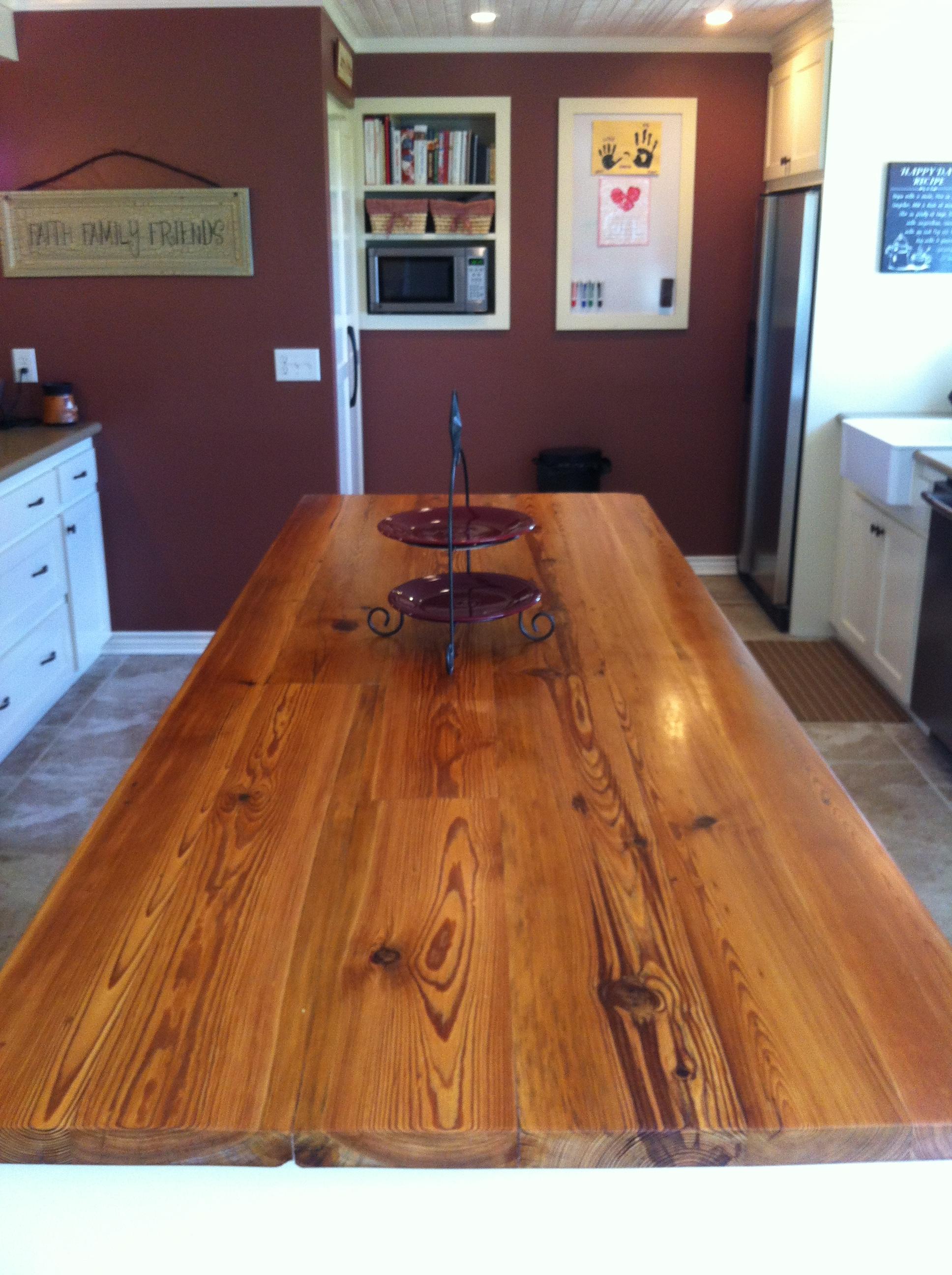 custom pine countertop