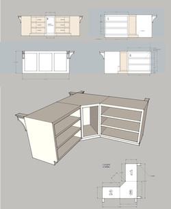 kitchen island design & rende