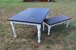 shou sugi ban farmhouse table