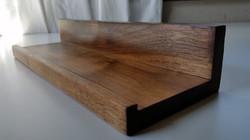 walnut key shelf