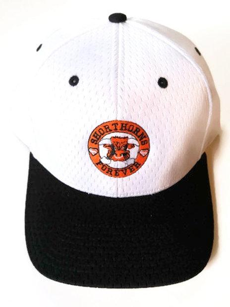 Shorthorns Forever Ball Cap - White & Black