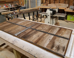 steel and wood door