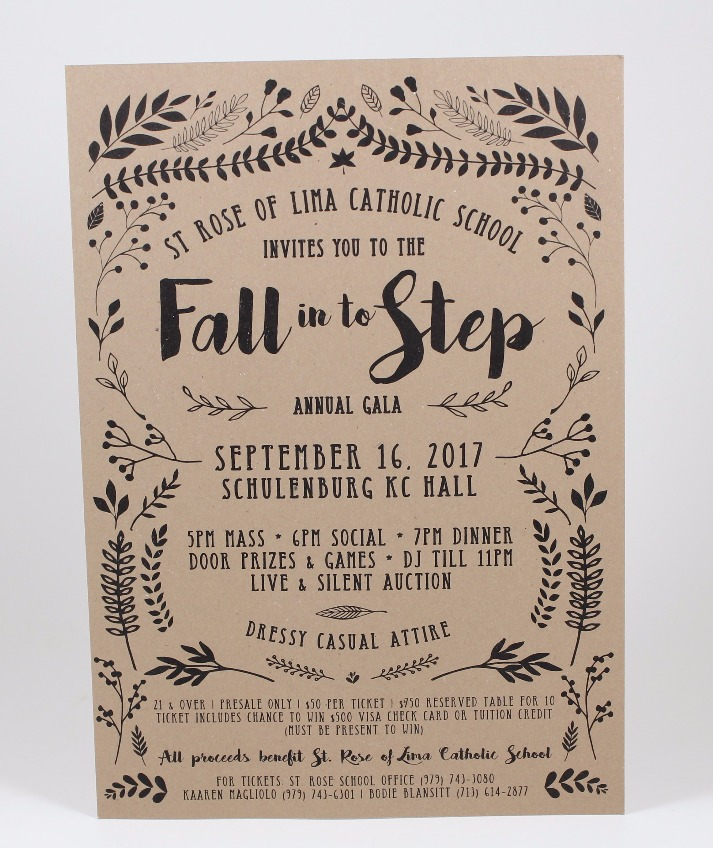 Fall Into Step 2017 Poster Design
