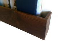walnut entry shelf
