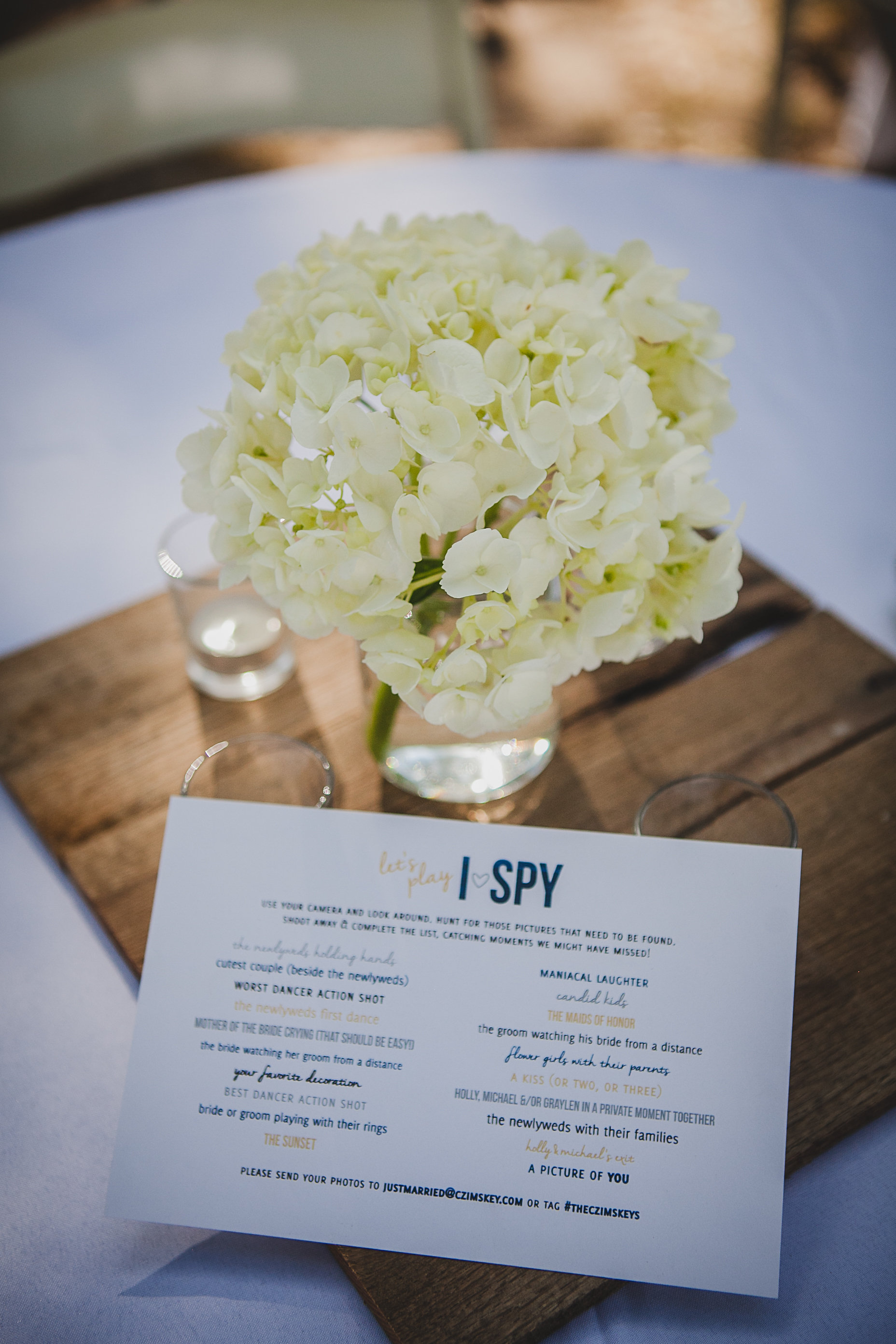 I-Spy Table Card