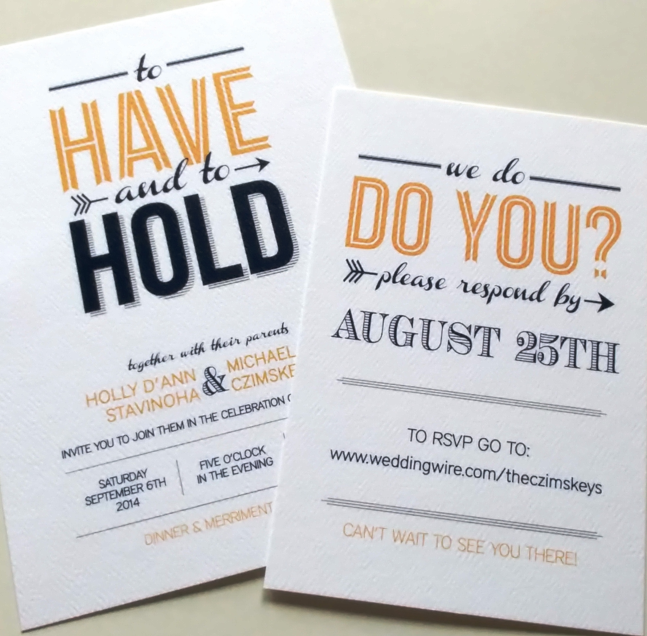 Wedding Invite & Insert