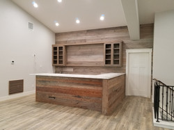 wood wall and bar