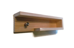 modern entry shelf