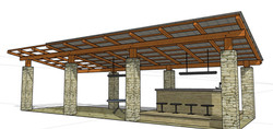 pool house design & render