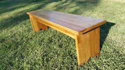 pecan farmhouse bench