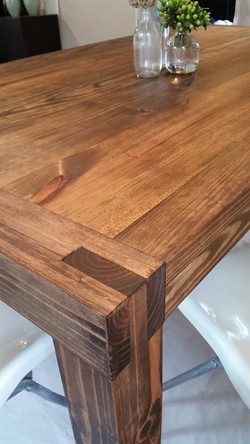 reclaimed wood joinery table