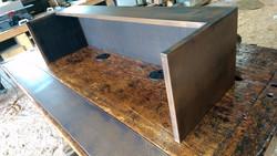 Fixe Austin workbench hostess stand