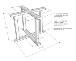 restaurant table shop drawings