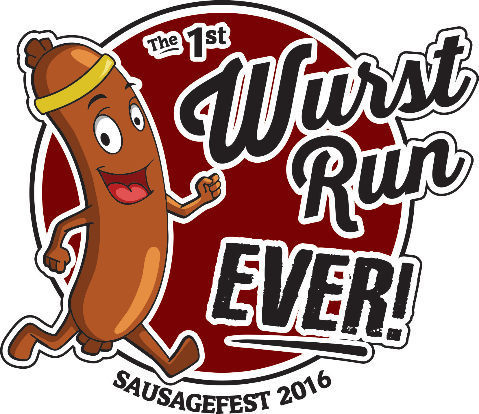 Wurst Run Ever Logo Design