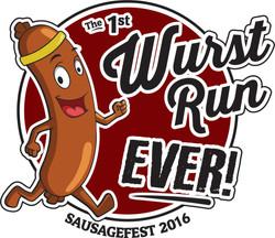 Wurst Run Ever Logo Design