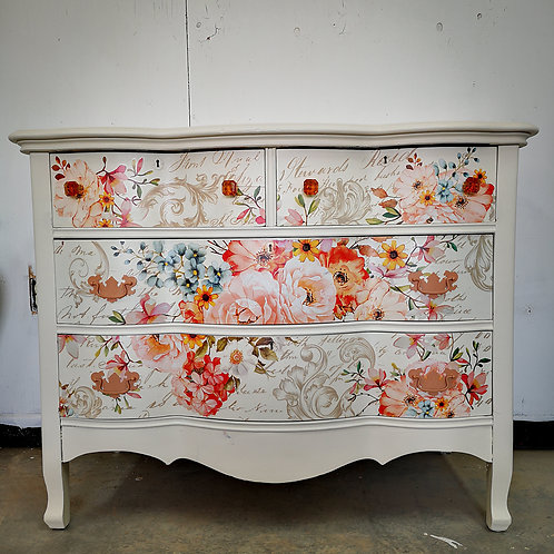 *****SOLD***Spring flowers oak dresser ******SOLD*****