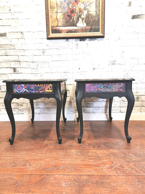 ********SOLDSOLD*********BOHO STYLE FRENCH PROVINCIAL END TABLES