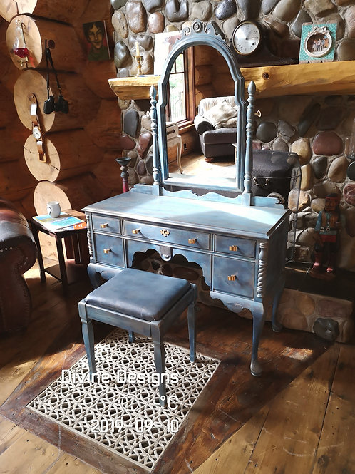 **SOLD*****Antique Vanity And Stool