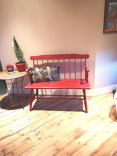 ***Sold***Red BENCH