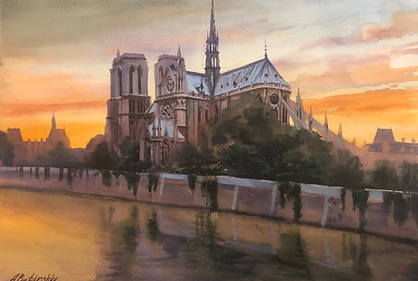 NotreDameSunset.ABFAW-051.Watercolor.11.