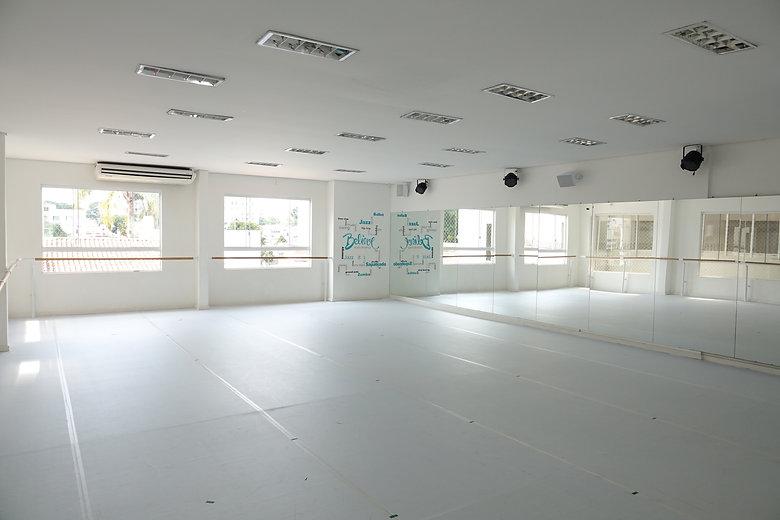 sala de aula em Believe Studio de Dança em Curitiba