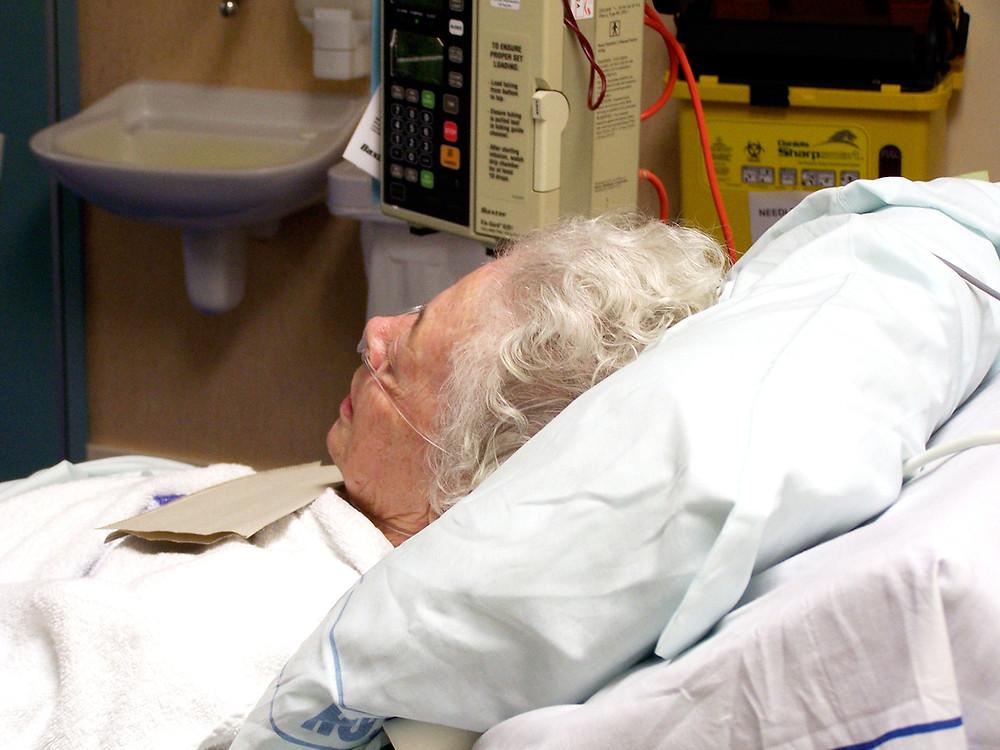 Elderly female patient.