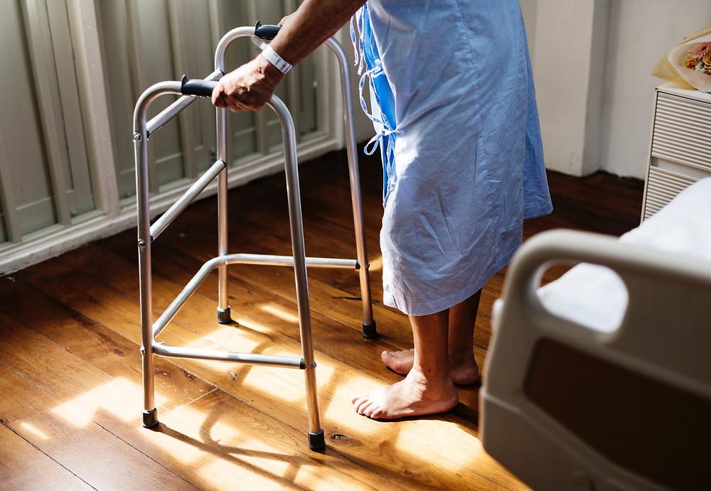 Elderly patient.