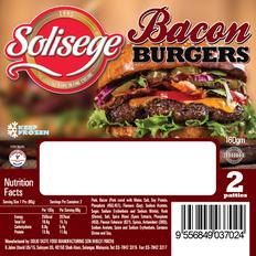 Solisege Burger labels