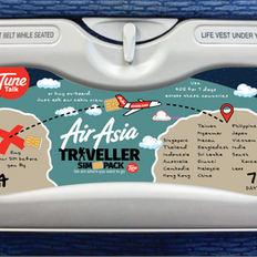 Air Asia Traveller SIM Pack Tray Table A