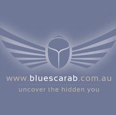 Blue Scarab Logo Design