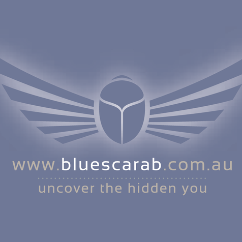Blue Scarab Logo Design