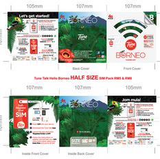 Hello! Borneo SIM Pack design and print-ready artwork