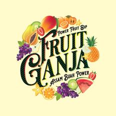 Fruit Ganja Product label and logo design